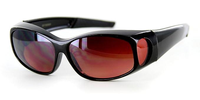 "6667a4fc6da6 ""Hideaways Small"" Over-Prescription Driving Sunglasses w/ Blue  Light Blocker Lens"