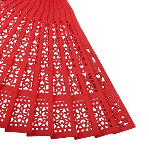 Veroda - Zapatillas de danza de madera para hombre Talla única Red