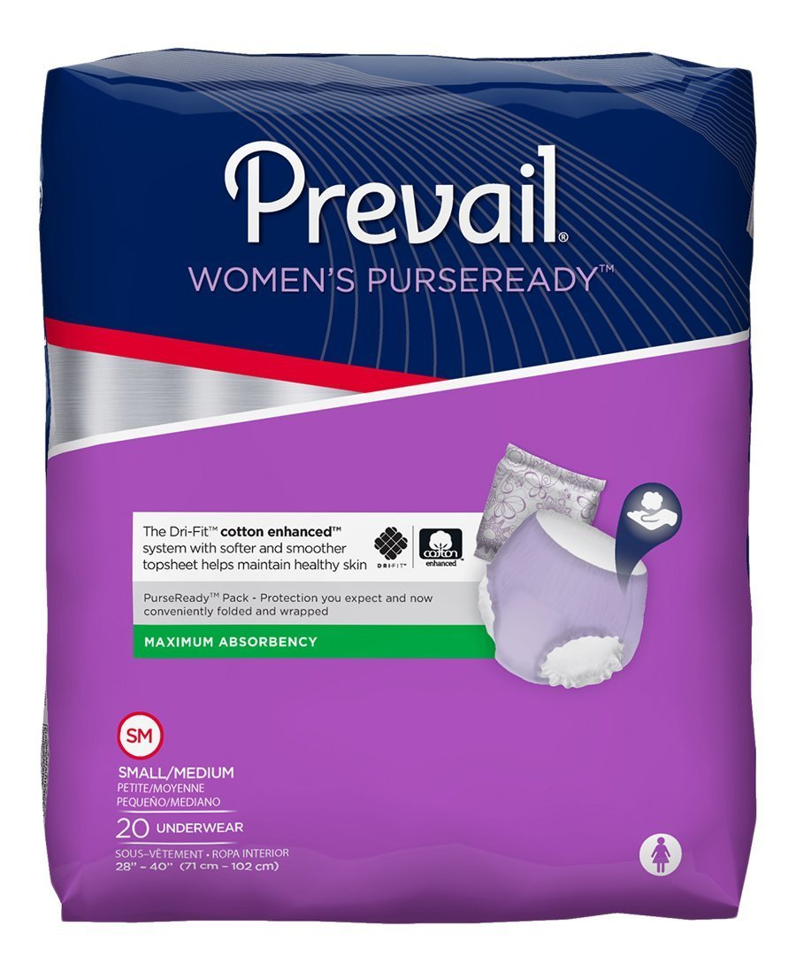 Amazon.com: Prevail Underwear PurseReady, SMALL / MEDIUM, Pull On, PRU-512 - Pack of 20: Health & Personal Care