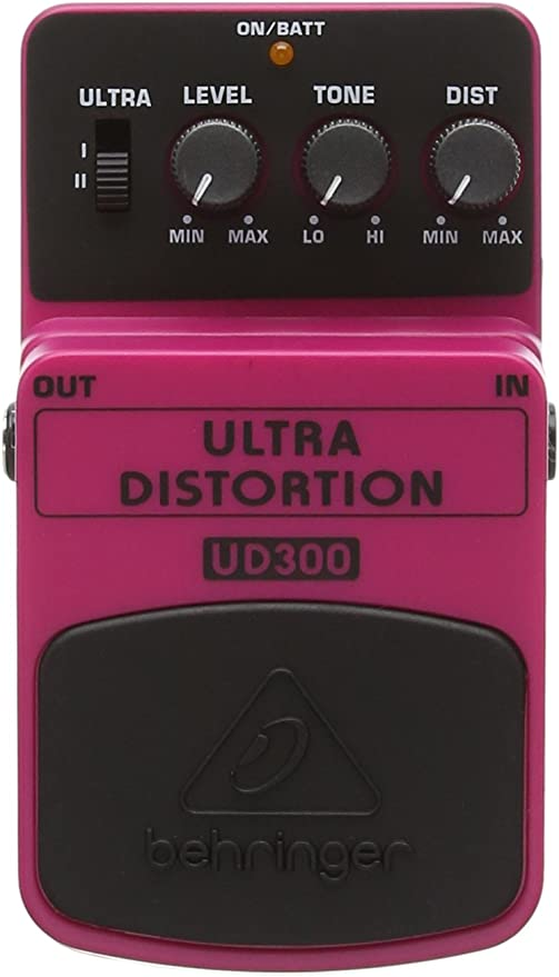 Behringer UD300 - Pedal de distorsión para guitarra, color rosa ...