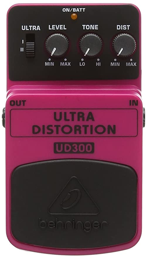 Behringer UD300 - Pedal de distorsión para guitarra, color rosa