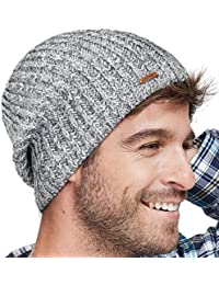 Winter Beanie Skull Cap Warm Knit Fleece Ski Slouchy Hat for Men   Women 1c016abd76a
