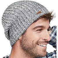 8e44a9f0c33 lethmik Winter Beanie Skull Cap Warm Knit Fleece Ski Slouchy Hat For Men    Women