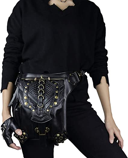 Detachable. Holster bag and Fanny pack three in one leather