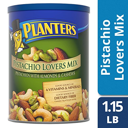 Planters Pistachio Lovers Mix, Salted, 18.5 Ounce Canister by Planters