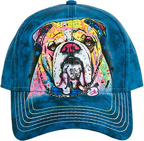 The Mountain Unisex-Adults Colorful Bulldog Baseball Cap, Blue, Adjustable
