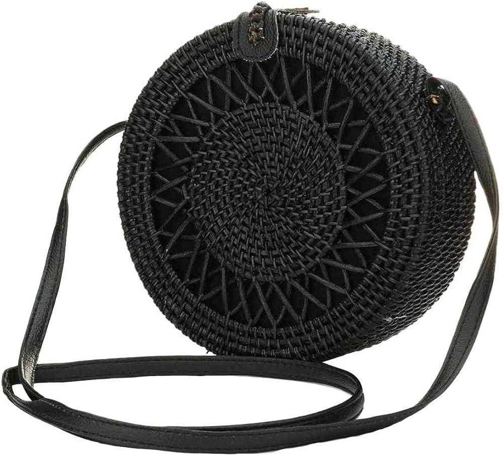 Handwoven Round Rattan Bag...