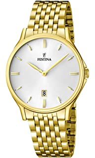 Festina F16746/1 - Mens Watch, Stainless Steel placcato, color: oro