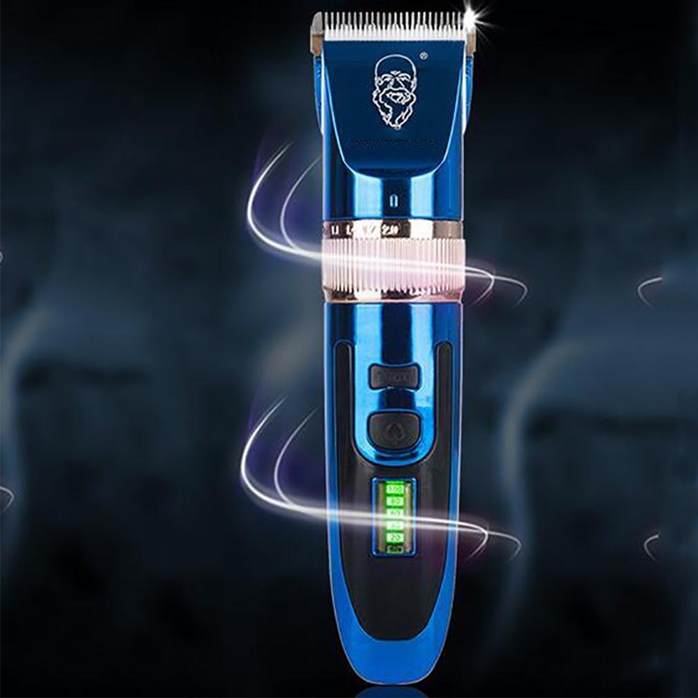 LL-110-240 V Professionale ricaricabile LCD Hair Clipper Capelli elettrico Trimmer Bambino adulto muto taglio di capelli macchina , B Barber