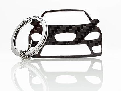 BlackStuff Llavero De Fibra De Carbono Cadena De Claves Compatible con Leon MK2 1P Cupra FR 2005-2012 BS-673