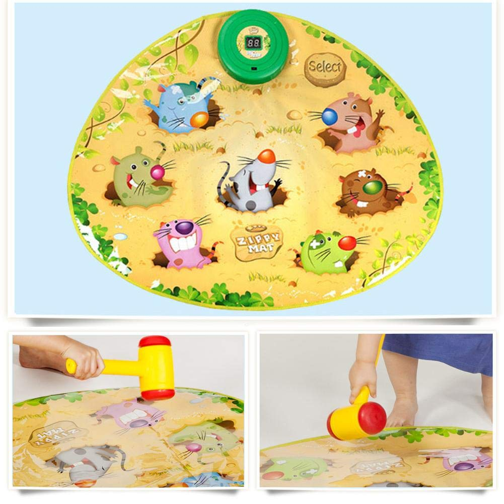 Zigtee Children's Toy Whac a Mole Game Dance Mat Puzzle Music Pad by Zigtee (Image #5)