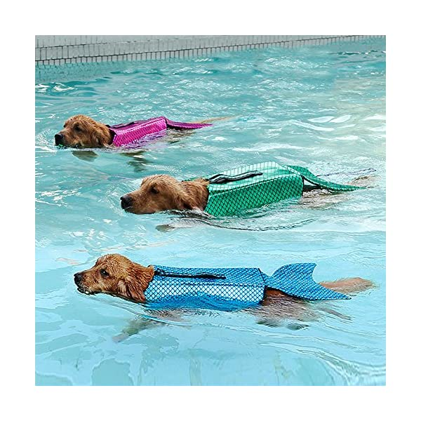 Albabara Dog Life Jacket Mermaid Fashion Floatation Vest Doggy Lifesaver Pet Puppy Preverver Doggies Safety Device Small… Click on image for further info. 7