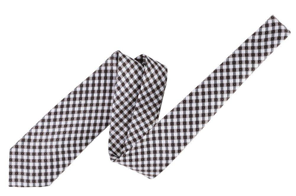 Tom Ford Brown Check Silk Neck Tie