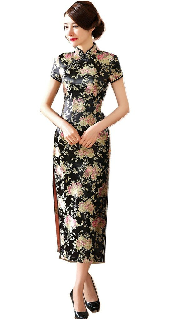 Shanghai Story Long Chinese Wedding Dress Qipao Cheongsam Party Dress Gown 6 35A
