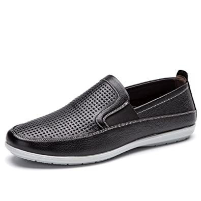 Spring Men's shoes/Grid lazy man shoes/Sets foot comfortable driving shoes