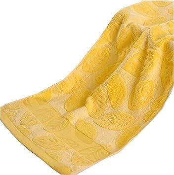 Black Temptation Conjunto de 4, [Hojas amarillas] Deportes de toallas y bañera de