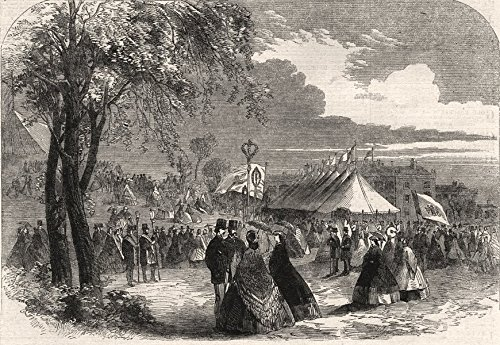 Floral Jubilee at Dumfries. Dumfries & Galloway Horticultural Society - 1862 - Old Print - Antique Print - Vintage Print - Printed Prints of Scotland
