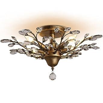 Lovely Light Retro Led Romantische Glas Deckenleuchte 4 Lichter