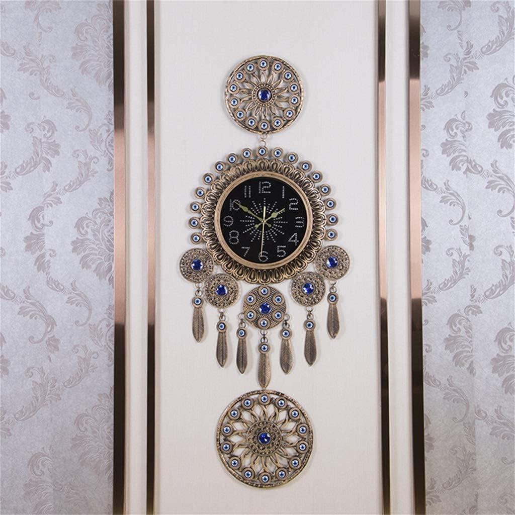 ZQQBRZXFT Creativo Moderno Reloj De Pared Europeo Mudo SalóN Dormitorio Comedor Pared Pared Reloj ElectróNico
