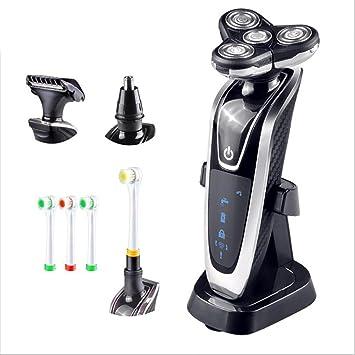 LL-Afeitadora eléctrica impermeable mojado y seco afeitadoras rotativas para hombres maquinilla de afeitar eléctrica