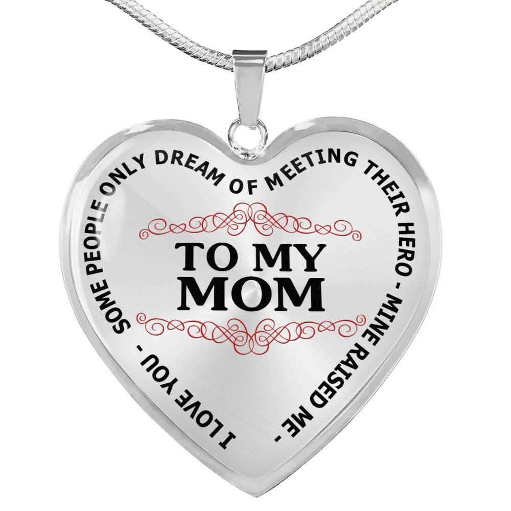 Luxury Necklace Silver On Birthday Pendant Romantic Chain Anniversary to My mom Necklace Pendant Best Gift for Your mom