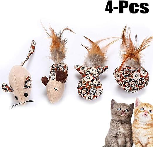 Legendog 4PCS Conjunto De Juguetes para Gatos Incluyendo Ratones Bola De Pescado Gato Catnip Juguete Divertido Juguete para Mascotas: Amazon.es: Productos para mascotas