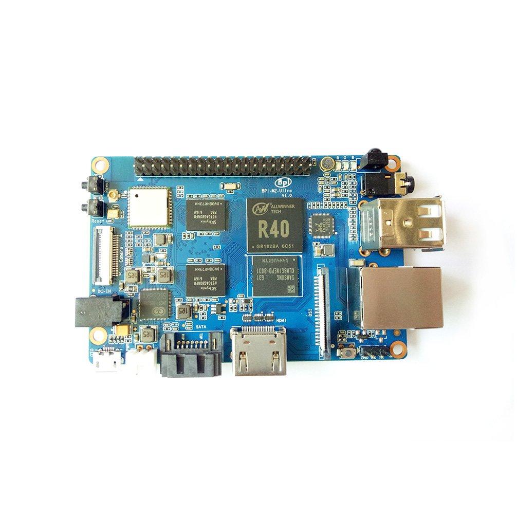 Banana Pi BPI M2 Ultra R40 Quad-Core 2GB DDR3 RAM with SATA WiFi Bluetooth 8GB eMMC demo board Single Board Computer by SmartFly Info (Image #4)
