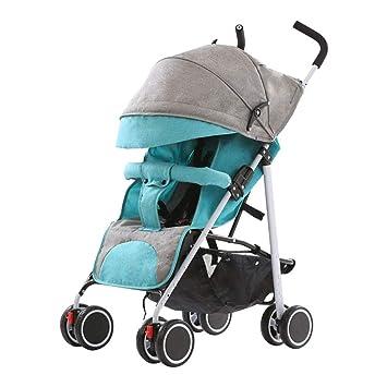 GFGF &Cochecito de bebé Carro de bebé Ultraligero Paraguas portátil Coche Plegable ~ Pequeño Volumen Plegable