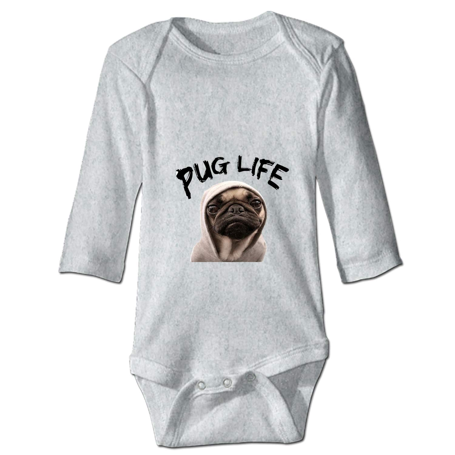 24M 6M XASFF Baby Cotton Bodysuits French Bulldog Long-Sleeve One-Piece Suit