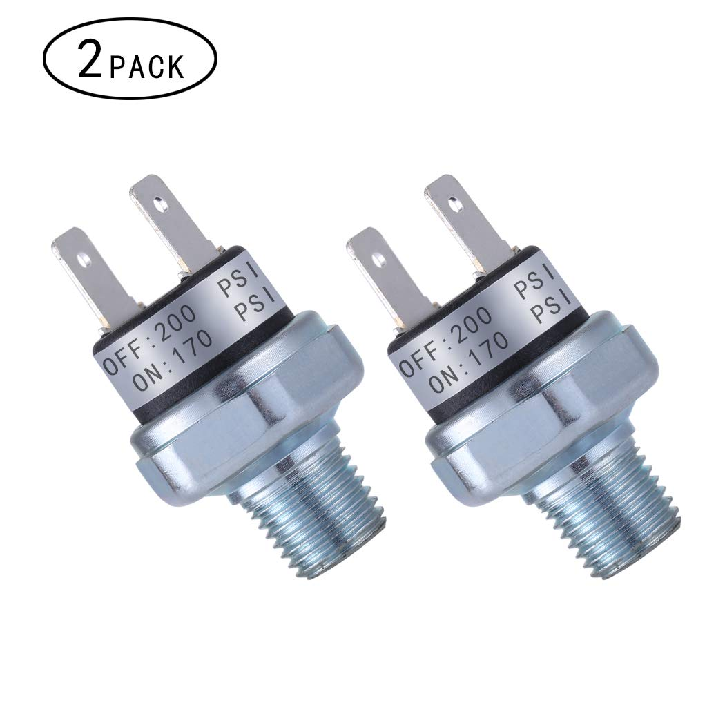 Air Pressure Switch 90-120 PSI Pressure Switch 1//8-27 NPT DC 24V 12V Pressure Switch Air Compressor Pressure Switch 120PSI Pressure Switch 90 PSI Pressure Switch