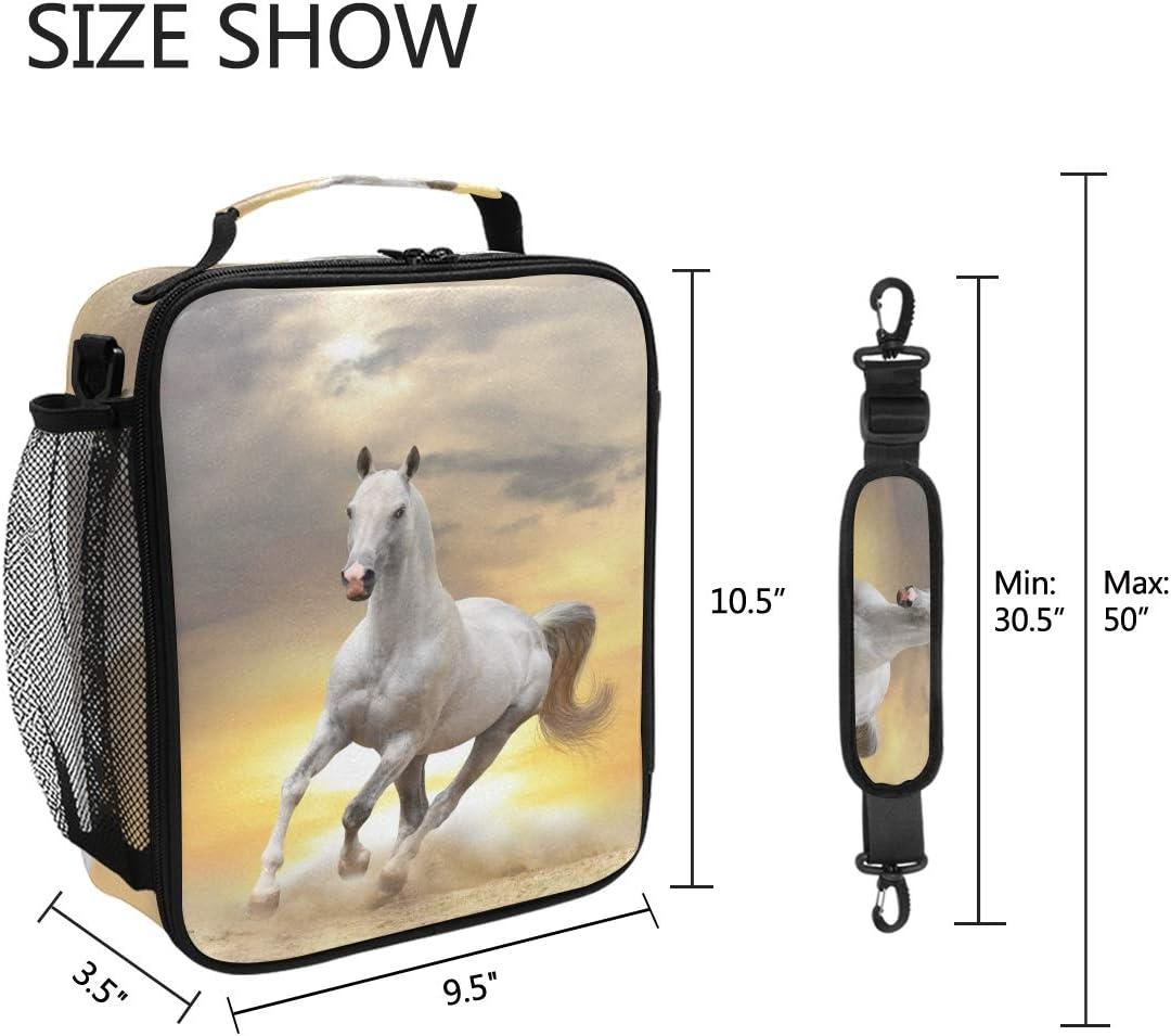attivit/à allaperto borsa termica per il pranzo campeggio picnic con stampa di cavalli in neoprene uomini scuola per adulti bambini Bigjoke viaggi donne