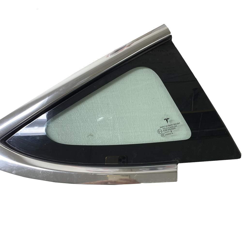 AY Customs Tesla Model 3 Rear Corner Window Protection Film Prevent Break in ClearPlex