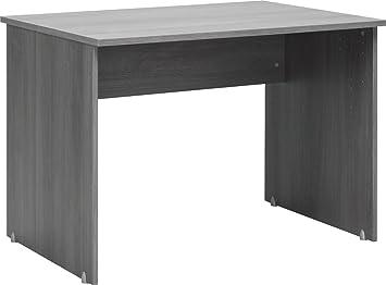 Cs schmalmöbel softplus bureau bois chêne argenté cm