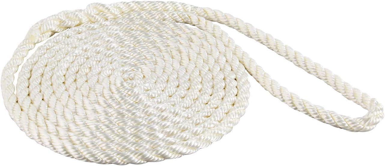 5//8-Inch x 25-Feet SeaSense Double Braid Nylon Dock Line White