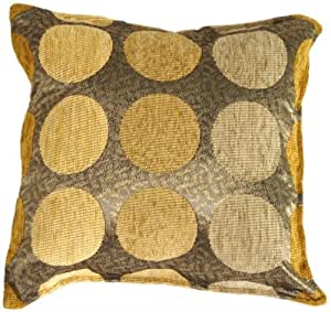 Pillow Decor - Multicolor Spheres Yellow 17x17 Throw Pillow