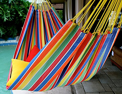 Tropical Joy – Fine Cotton King Size Hammock, Made in Brazil