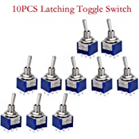 10pcs AC125 V 6 A 2 posiciones 6 pines DPDT ON-OFF Micro