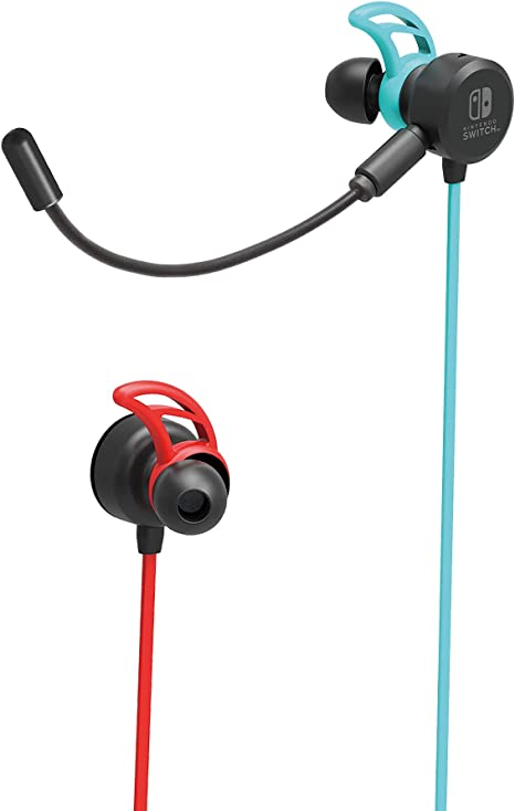 Hori - Auriculares Switch Azul/Rojo Neón (Nintendo Switch): Amazon ...