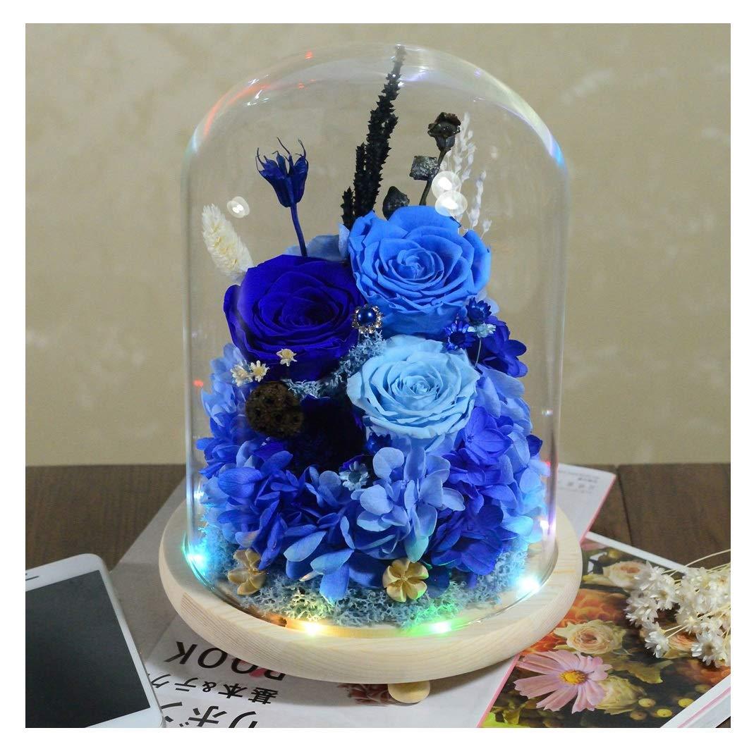 HARDY-YI 永遠の花ガラスカバーギフトボックスバレンタインギフト誕生日カラフルなライト永遠の花 - 永遠の花 995 (色 : B) B07R9K4X4C B