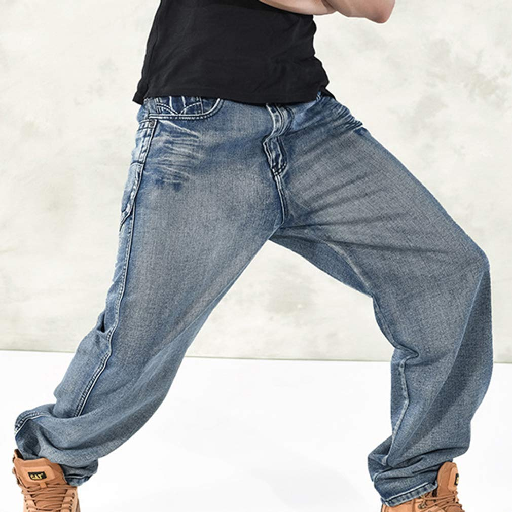 Mxssi Tallas Grandes Vaqueros Para Hombre Comodos Casuales Pantalones Mezclilla Con Bolsillos Hombres Cintura Alta Cremallera Pantalon Mezclilla Pantalones Largos Jeans Beisbol