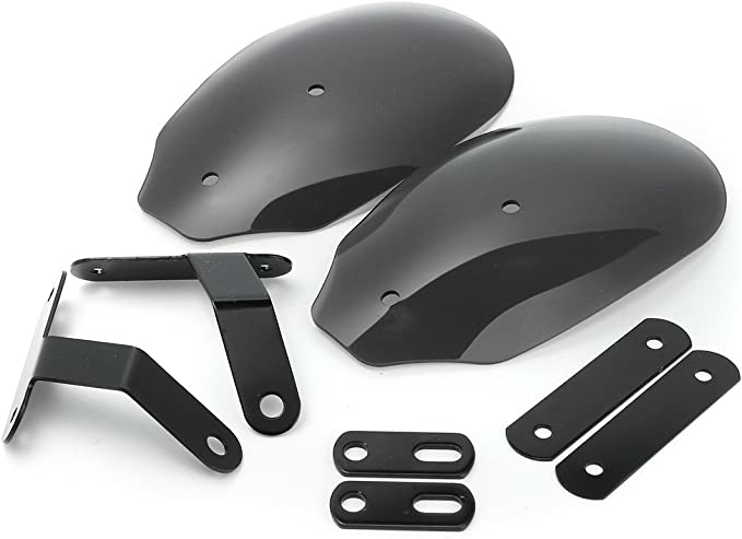 Alamor Motorrad Hand Protektoren Lenker Protektoren Protektor Für Harley Xl 883 1200 Dyna Road King Schwarz Küche Haushalt