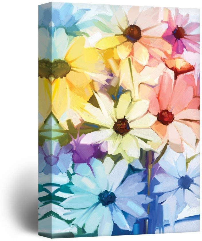 Unbelievable Piece of Art, Classic Artwork, Oil Painting Style Various Colored Flowers