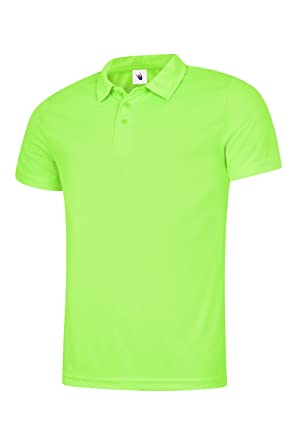 891b8b1b6a61 Uneek Herren Ultra Cool Polo Shirt 140 gsm 100% Polyester Atmungsaktives  Gewebe – erhältlich in 7 Farben  Amazon.de  Bekleidung
