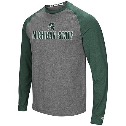 7e1e72d7e512 Colosseum Michigan State Spartans Adult Social Skills Raglan L/S Shirt  (Small)