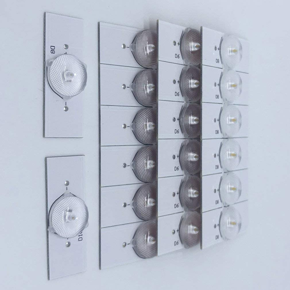 20PCS 6V SMD perles de lampe avec lentille optique Fliter pour 32-65 pouces LED TV travail de r/éparation avec un pilote LED /à courant constant