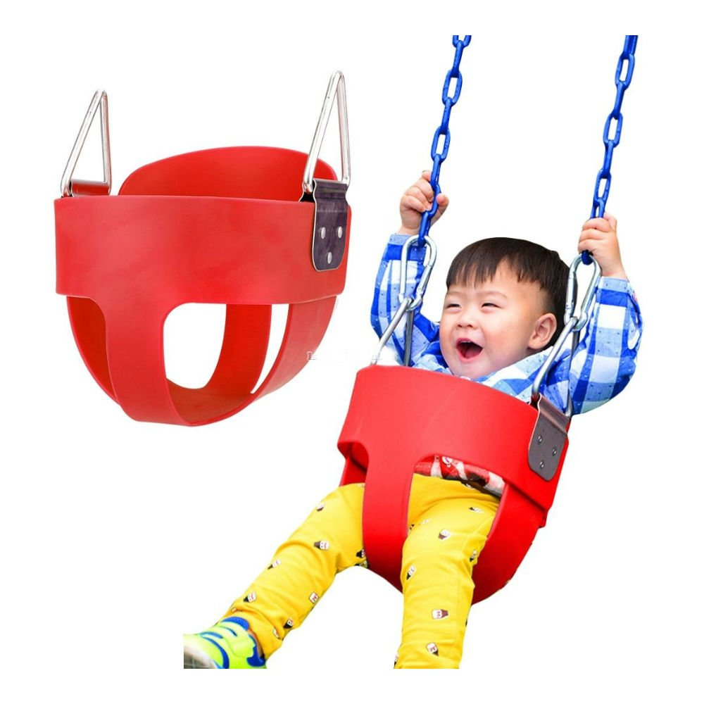 full-bucket Swing Seat Playground Swingsetベビーキッズ幼児用公園スイング B078B99N96