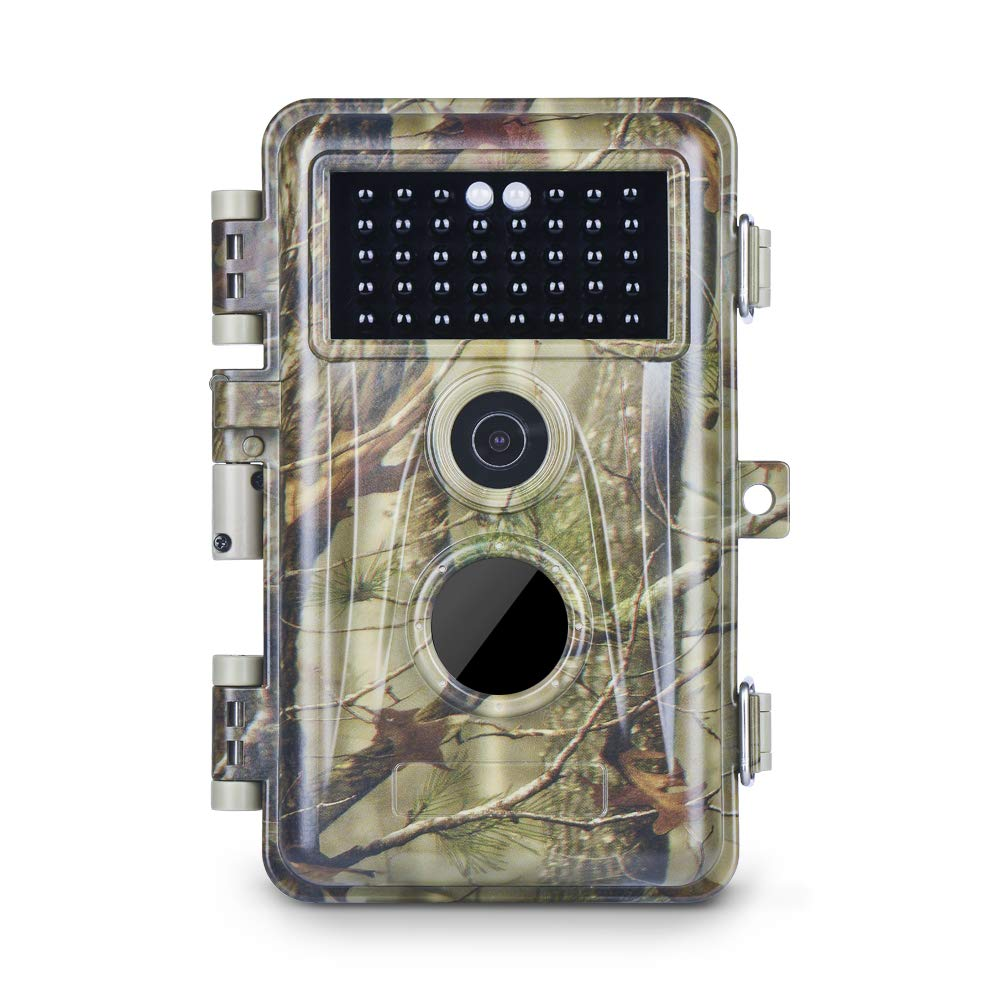 Meidase Trail Camera 16MP 1080P, Game Camera with No Glow Night Vision Up to 65ft, Hunting Camera with Motion Activated, 2.4'' Color Screen and Unique Keypad, Waterproof Wildlife Camera by Meidase