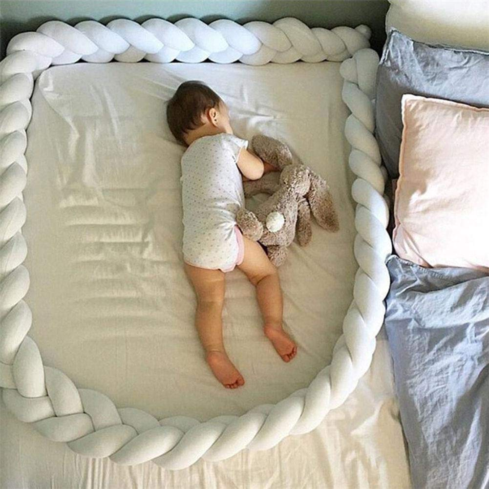 Biback Baby Crib Bumpers Braids Kid's Room Decoration DIY Hand Made Twist Bed Circumference Long Knot Ball Pillow Crib Netting by Biback (Image #3)