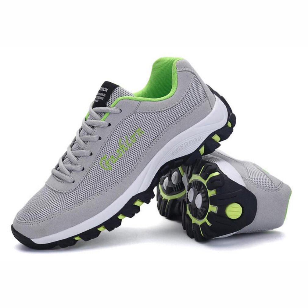 YaXuan Laufende Turnschuhe der Männer, zufällige Turnschuhe, Leichte Breathable Sport-Turnhallen-Schuhe, Maschen-Trainer-Sport-Schuhe, Bequeme Schuhe, Schwarzes, Grau (Farbe : Ein, Größe : 40)