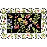 C&F Home Blair Floral Hooked Rug, 2 x 3, Black